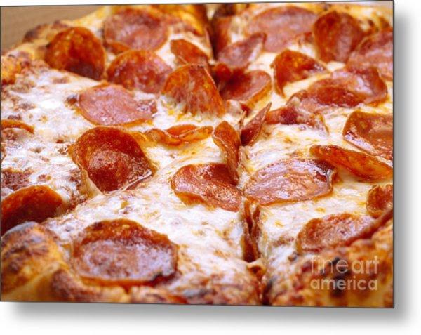 Pepperoni Pizza 1 - Pizzeria - Pizza Shoppe Metal Print