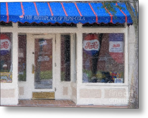 Pepsi Cola Birthplace Watercolor Metal Print