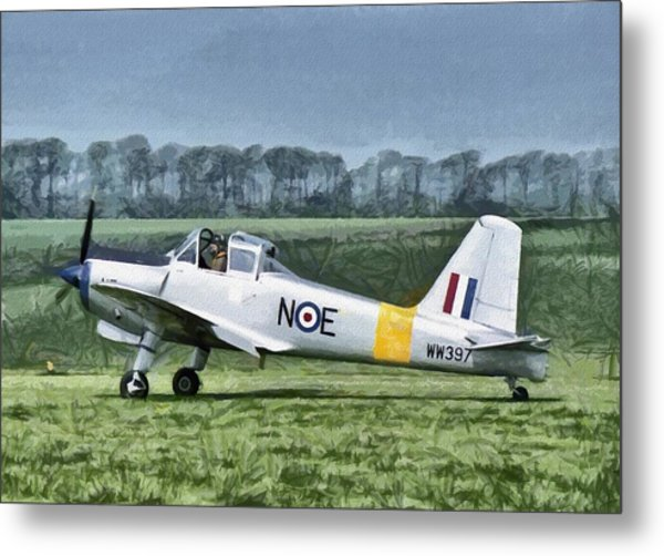 Metal Print featuring the digital art Percival Provost Textured Canvas by Paul Gulliver