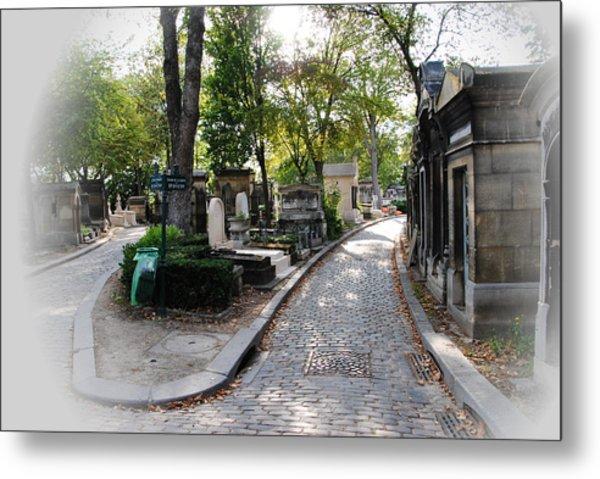 Pere Lachaise Cemetery Paris Metal Print by Jacqueline M Lewis