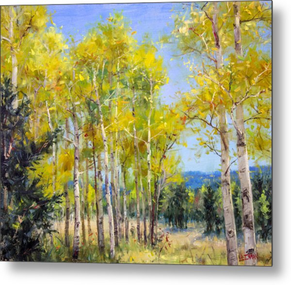 Perfect Day For A Hike Metal Print by Bill Inman