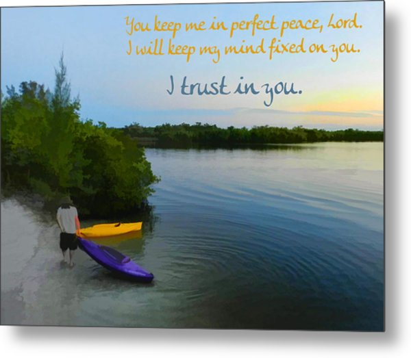 Metal Print featuring the digital art Perfect Peace by Grace Dillon