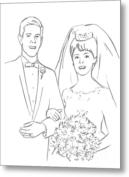 Perfect Wedding Metal Print