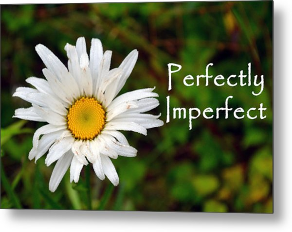 Perfectly Imperfect Daisy Flower Metal Print