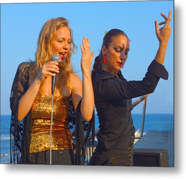 Performing By The Sea Metal Print by Digby Merry