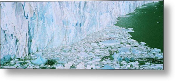 Perito Moreno Glacier In The Los Metal Print by Martin Zwick