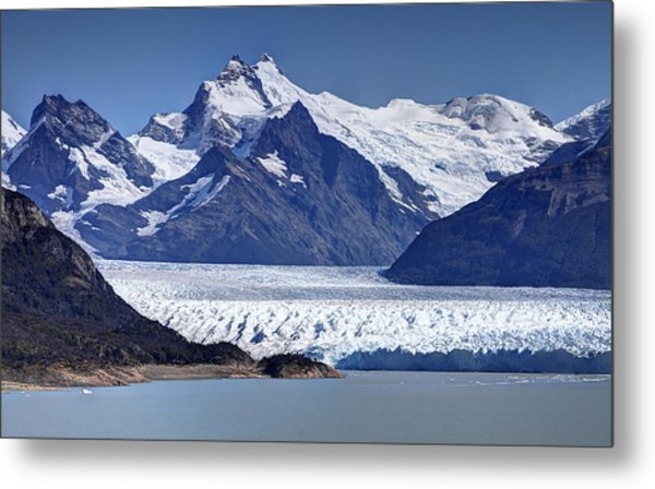 Perito Moreno Glacier - Snow Top Mountains Metal Print