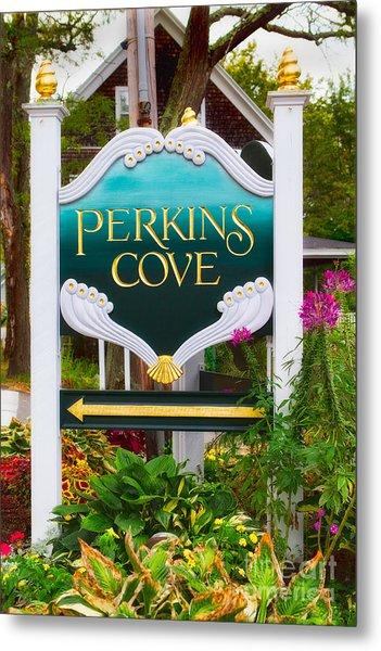 Perkins Cove Sign Metal Print