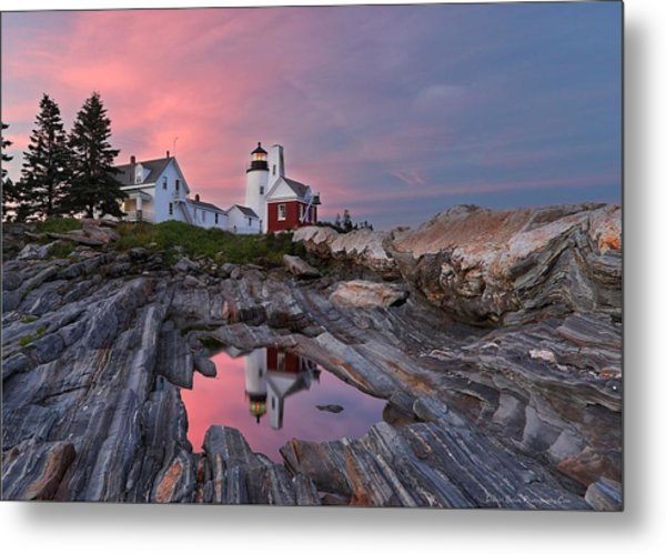 Permaquid Lighthouse Metal Print