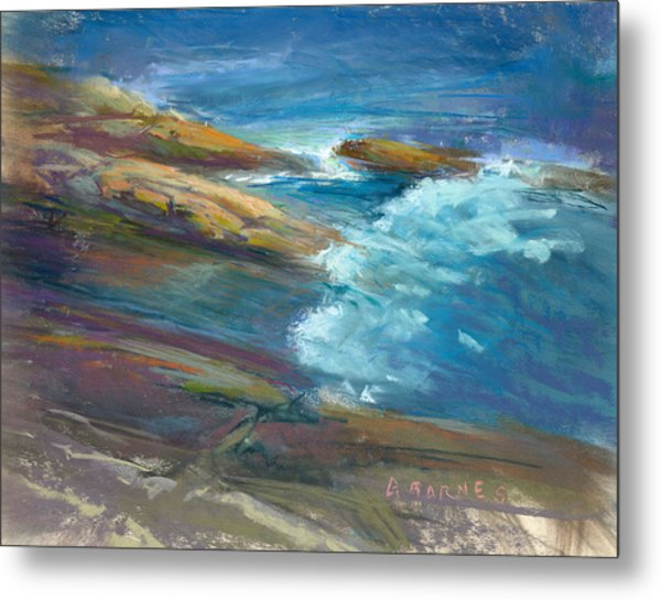 Pemaquid Rocks Metal Print by Greg Barnes