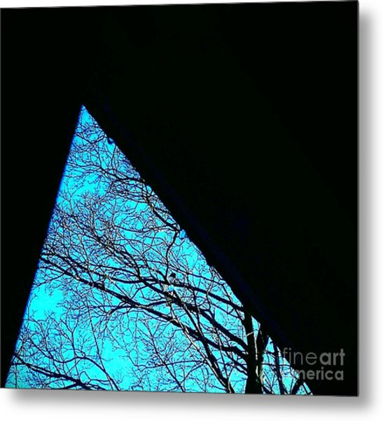 Blue Triangle Metal Print