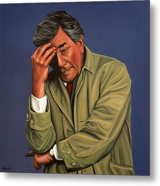 Peter Falk As Columbo Metal Print