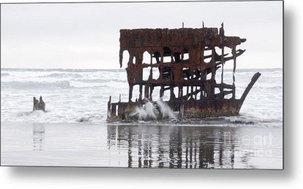 Peter Iredale Shipwreck 1 Metal Print