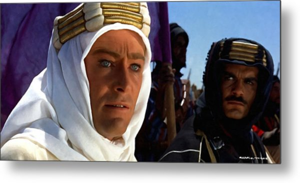 Peter Otoole And Omar Sharif In Lawrence Of Arabia Metal Print