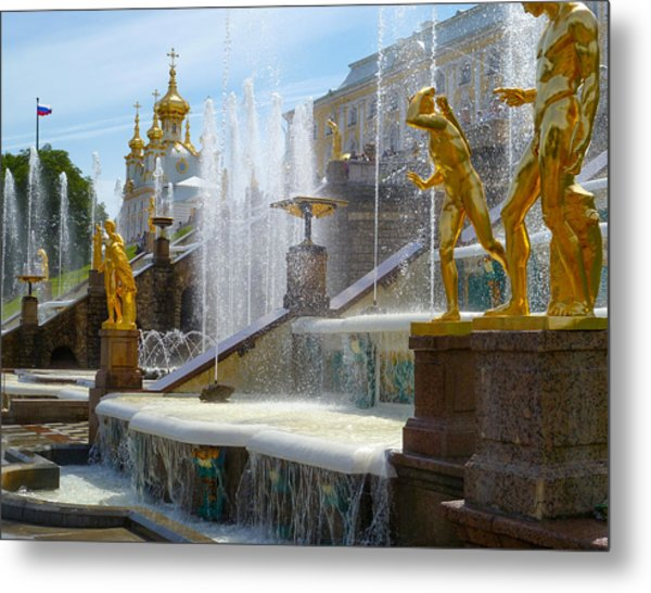 Peterhof Palace Fountains Metal Print