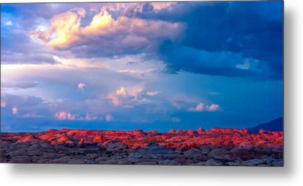 Petrified Dunes Sunset Metal Print