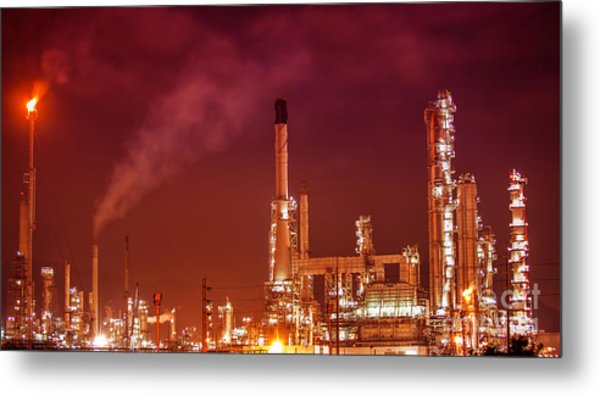 Petrochemical Oil Refinery Plant  Metal Print