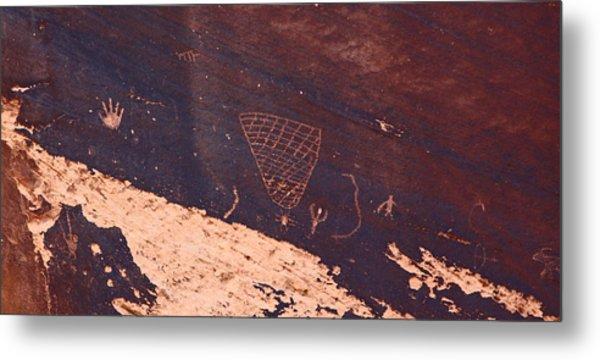 Petroglyphs In Utah Metal Print