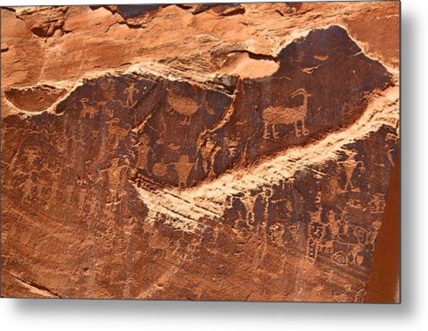 Petroglyphs Or Rock Art In Utah Metal Print