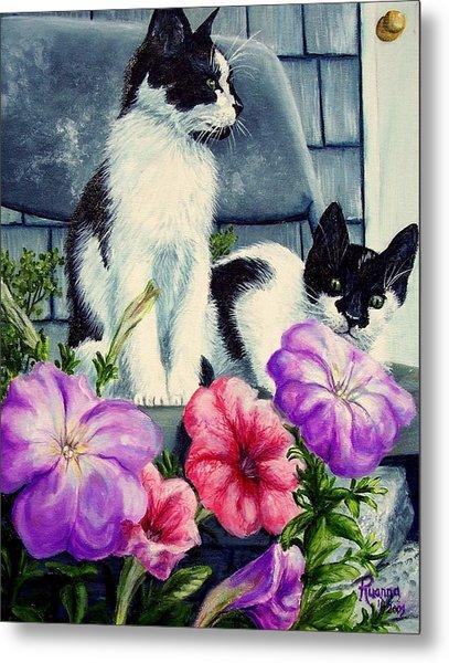 Petunia Kittens Metal Print