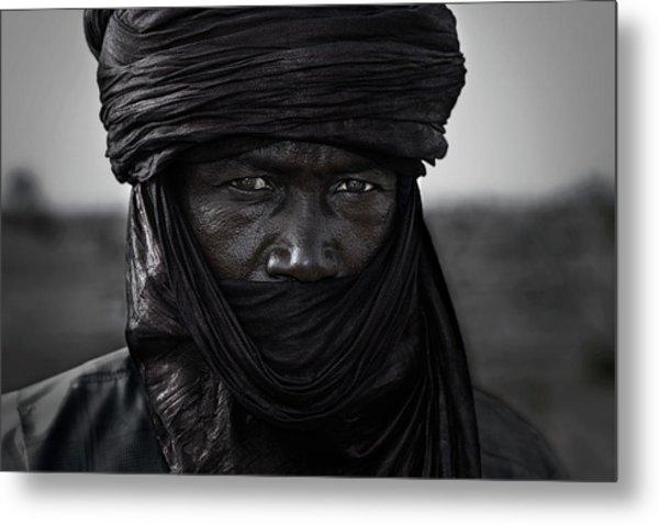 Peul Man In The Gerewol Festival - Niger Metal Print