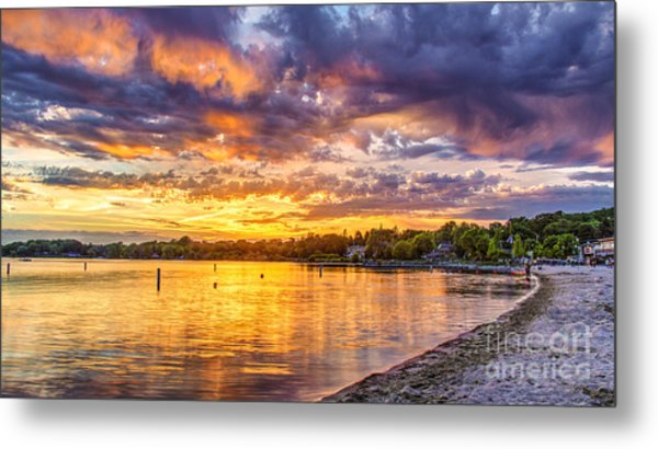 Pewaukee Orange Fury Metal Print