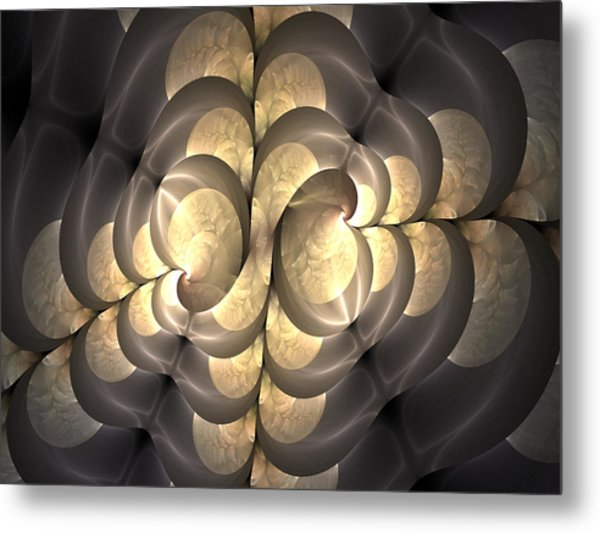 Pewter And Gold Metal Print