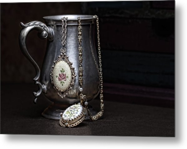 Pewter Cup Still Life Metal Print