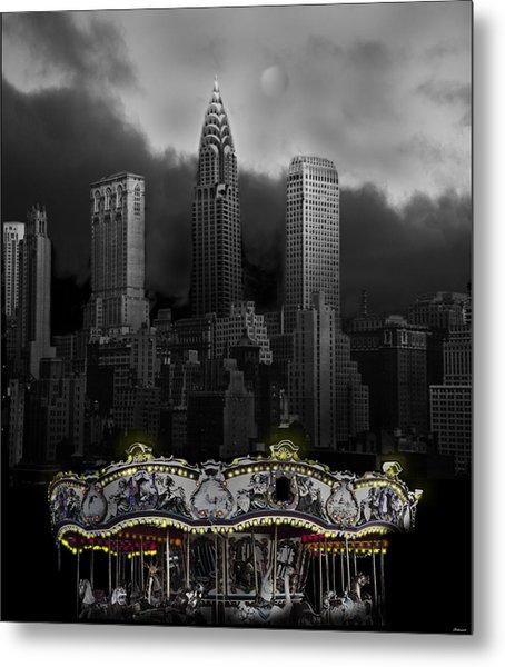 Phantom Carousel Metal Print by Larry Butterworth