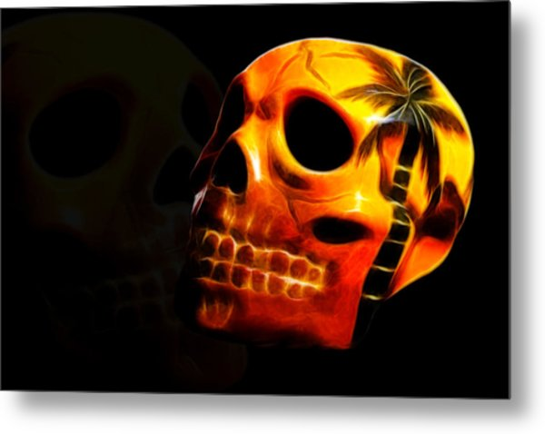 Phantom Skull Metal Print