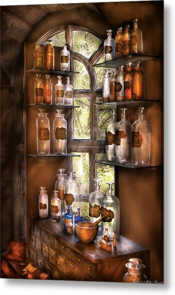 Pharmacist - Various Potions Metal Print