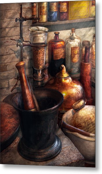 Pharmacy - Pestle - Pharmacology Metal Print