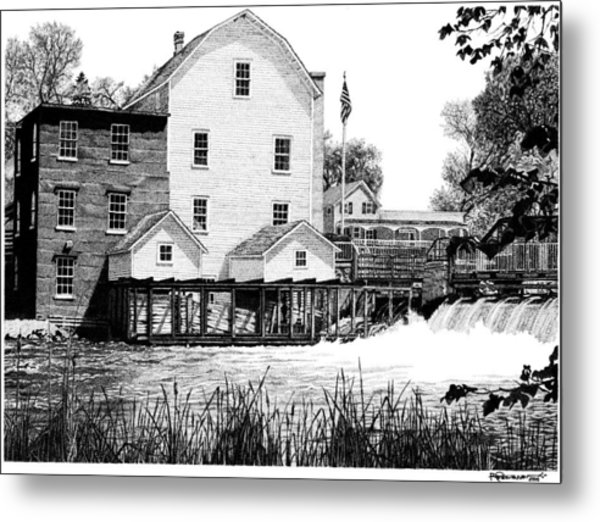 Phelps Mill Metal Print by Rob Christensen