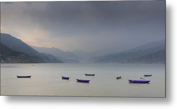 Phewa Lake In Pokhara Metal Print