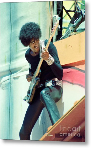 Phil Lynott Of Thin Lizzy - Black Rose Tour Day On The Green 7-4-79  Metal Print
