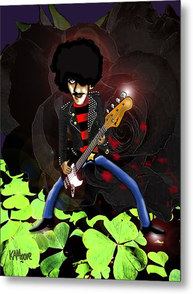 Phil Lynott Of Thin Lizzy Metal Print