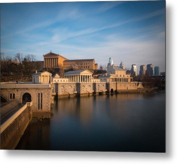 Philadelphia Art Museum And Waterworks Metal Print by Aaron Couture