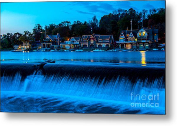 Philadelphia Boathouse Row At Sunset Metal Print