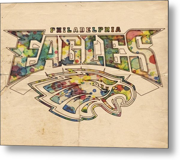 Philadelphia Eagles Poster Art Metal Print