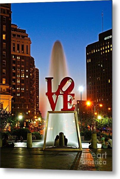Philadelphia Love Park Metal Print