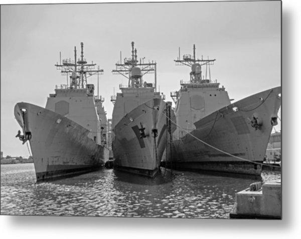 Philadelphia Navy Yard B - W  Metal Print
