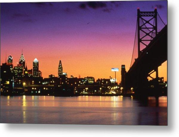 Philadelphia Skyline Metal Print by Retro Images Archive