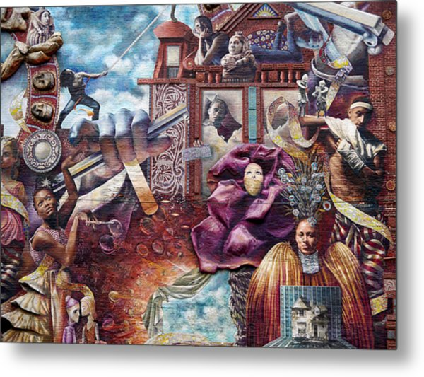 Philadelphia - Theater Of Life Mural Metal Print