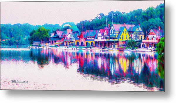 Philadelphia's Boathouse Row On The Schuylkill River Metal Print