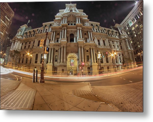 Philadelphia's Golden Glow  Metal Print
