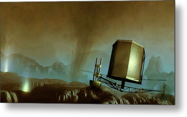 Philae Probe On Surface Of A Comet Metal Print