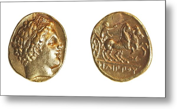 Philip II Gold Coin Metal Print by Science Photo Library