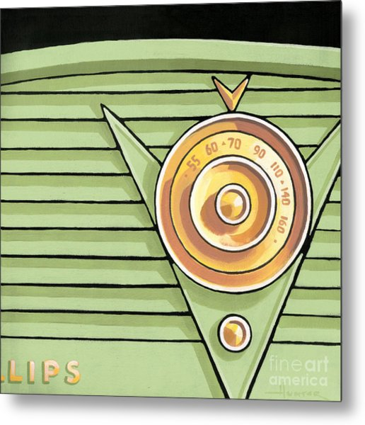 Phillips Radio - Green Metal Print