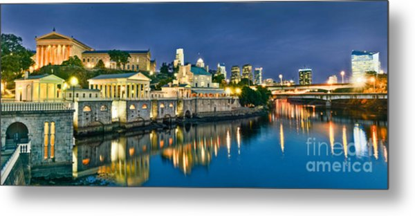 Philly Art Museum Night Metal Print