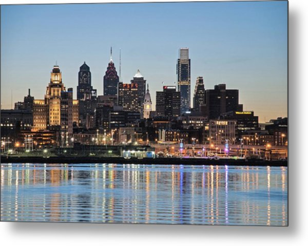 Philly Sunset Metal Print